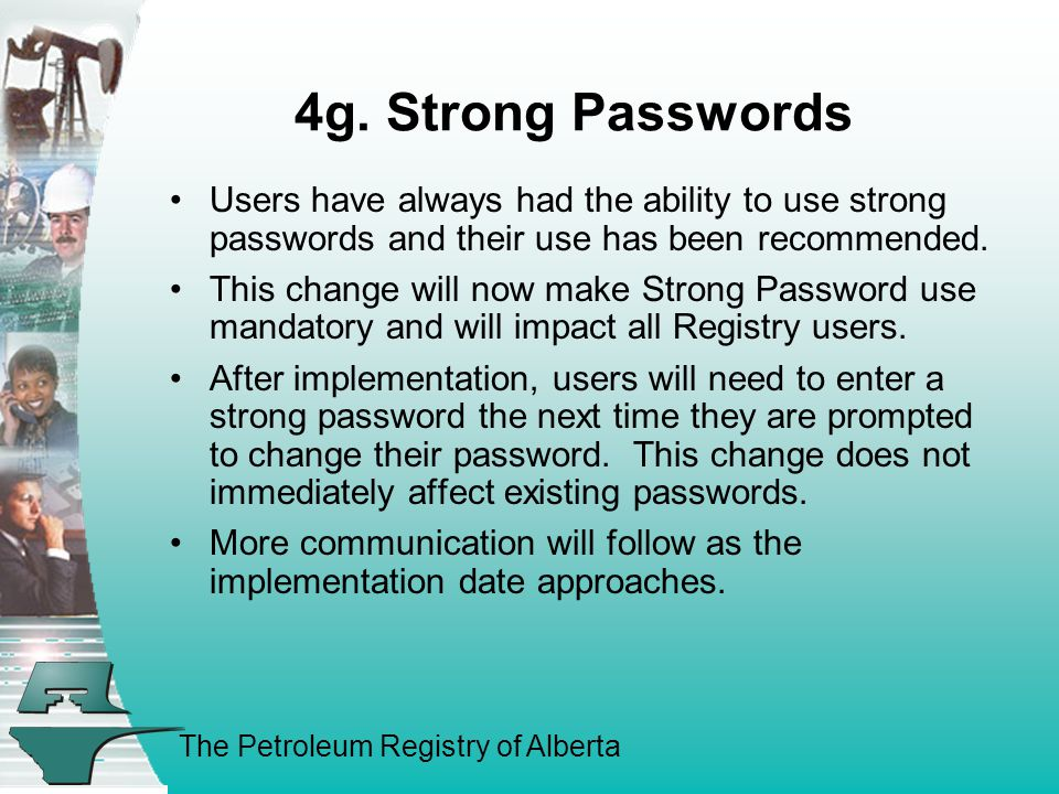 The Petroleum Registry of Alberta 4g.