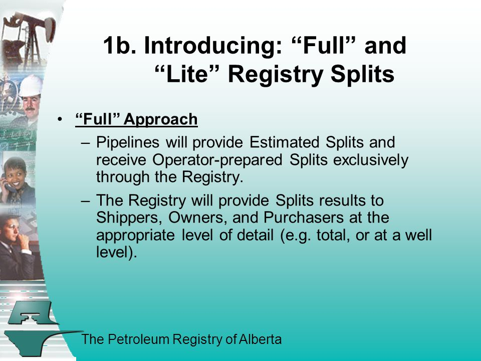 The Petroleum Registry of Alberta 1b.