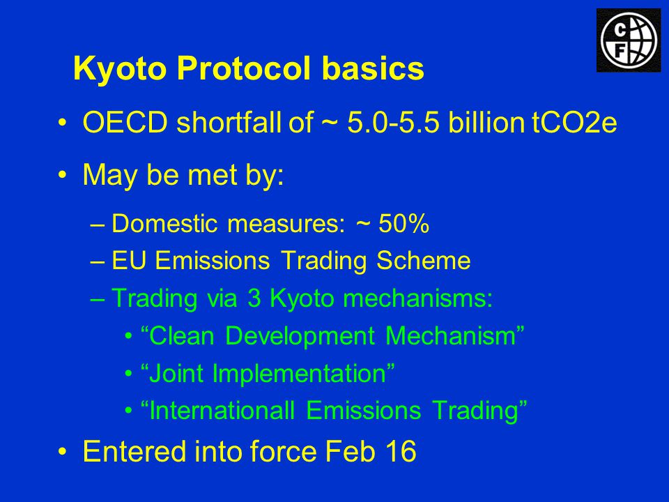 Structure of the Carbon Market Allowance Markets UK ETS EU Emissions Trading Scheme Chicago Climate Exchange New South Wales Certificates Project-Based Transactions Voluntary Retail Other Compliance Clean Development Mechanism Joint Implem.