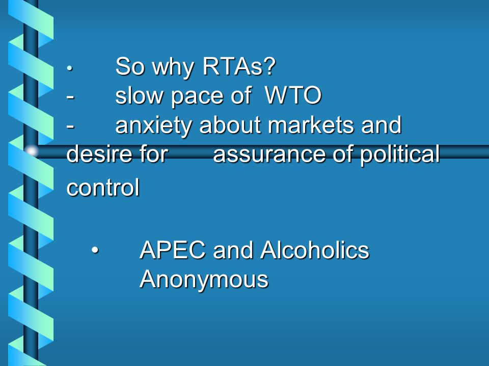 So why RTAs.