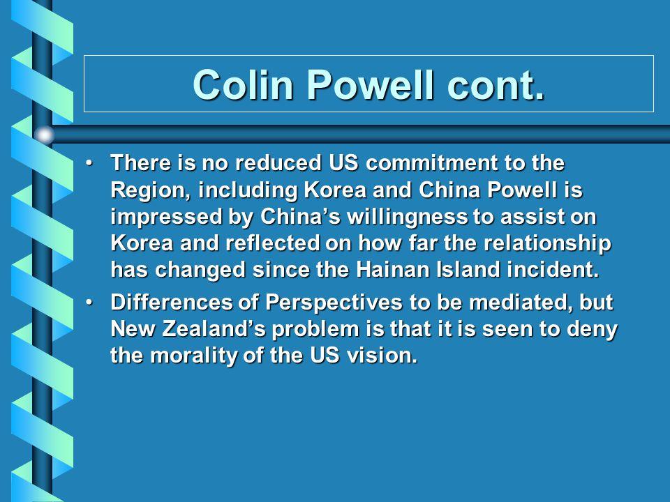 Colin Powell cont.