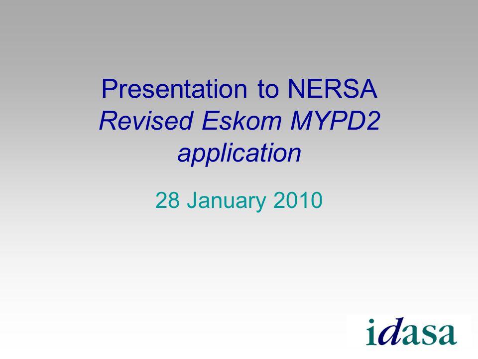 Presentation to NERSA Revised Eskom MYPD2 application 28 January 2010