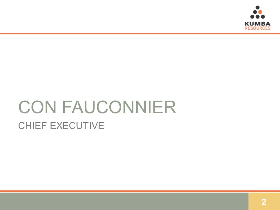 2 CON FAUCONNIER CHIEF EXECUTIVE