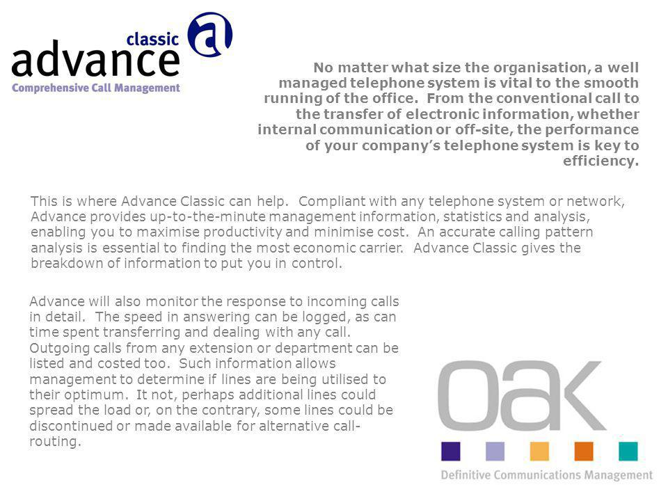 This is where Advance Classic can help.