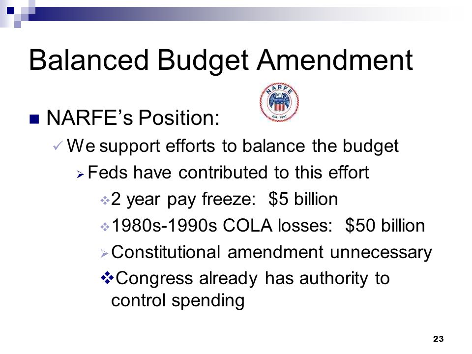 H.J. Res 1, Balanced Budget Amendment Spending caps waived during war or certain military actions 3/5 vote of House & Senate required to raise debt li
