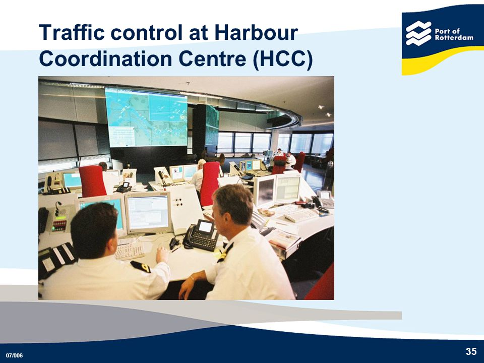 07/006 35 Traffic control at Harbour Coordination Centre (HCC)