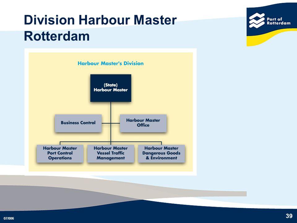 07/006 39 Division Harbour Master Rotterdam