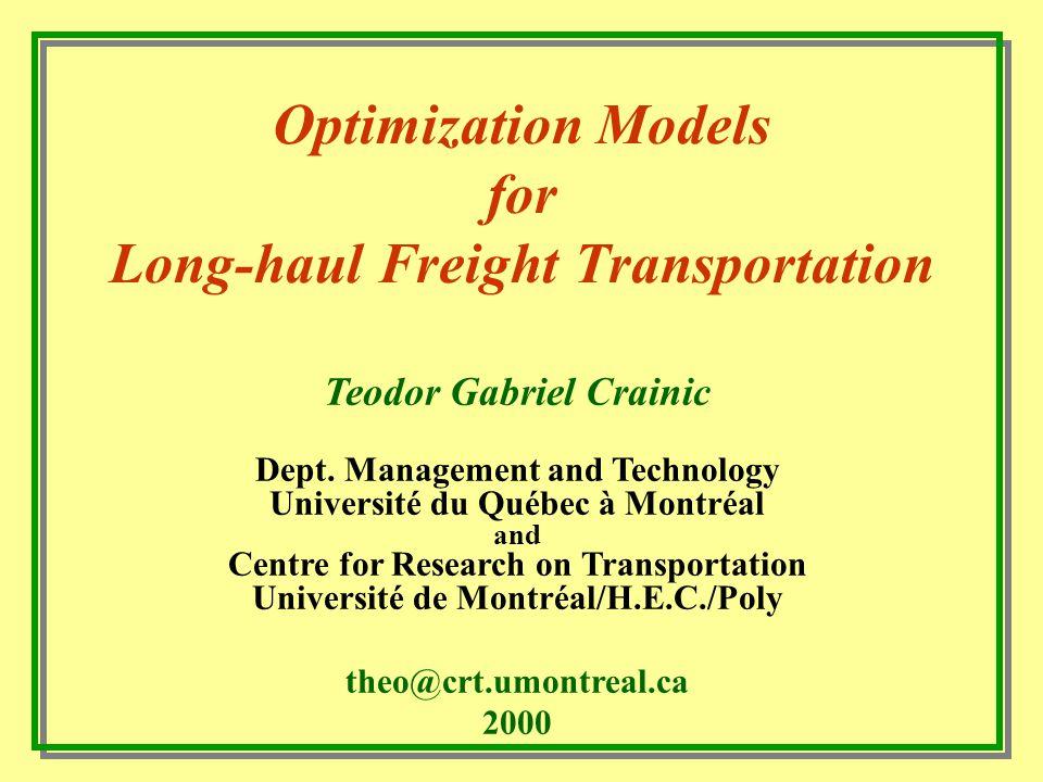 terminal Aterminal Cterminal Dterminal Eterminal F Trade-offs: Operating costs minimisation vs.