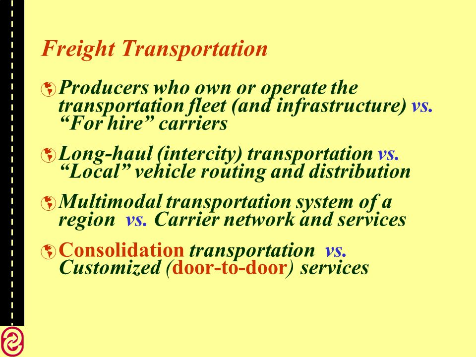 Delays - A Few Examples Rail yard operations: car classification and blocking, train formation, … Consolidation of freight in vehicles Waiting at terminal gates before admission Train delays due to meetings and overtakes on the lines of the network.