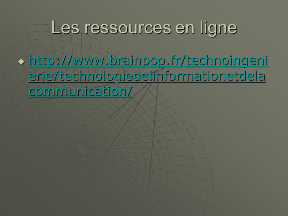 Les ressources en ligne   erie/technologiedelinformationetdela communication/   erie/technologiedelinformationetdela communication/   erie/technologiedelinformationetdela communication/   erie/technologiedelinformationetdela communication/