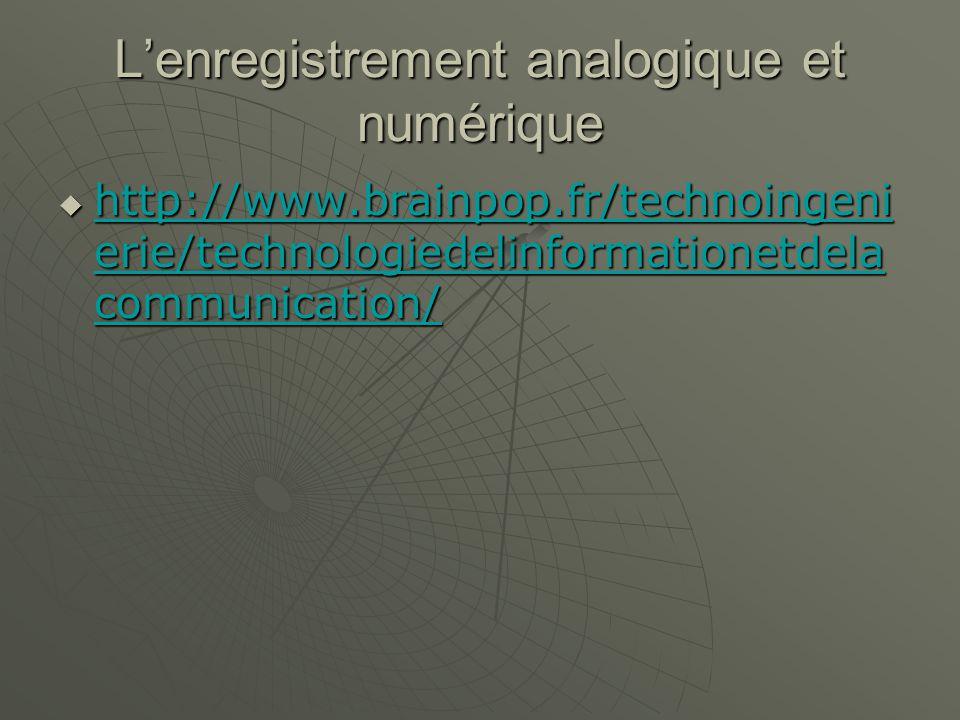 Les ressources en ligne http://www.brainpop.fr/technoingeni erie/technologiedelinformationetdela communication/ http://www.brainpop.fr/technoingeni erie/technologiedelinformationetdela communication/ http://www.brainpop.fr/technoingeni erie/technologiedelinformationetdela communication/ http://www.brainpop.fr/technoingeni erie/technologiedelinformationetdela communication/