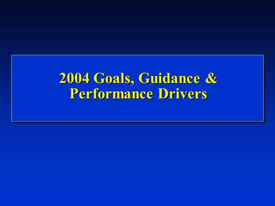 2004 Goals, Guidance & Performance Drivers