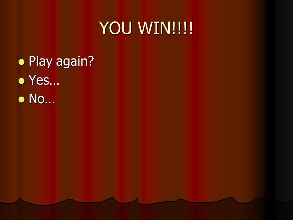 Win!!! Win!!!