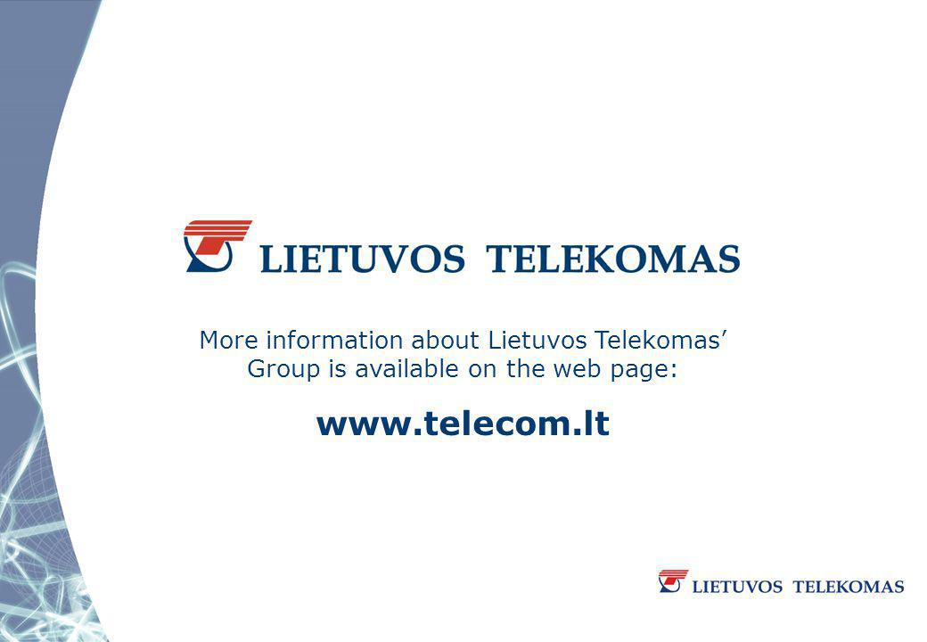 More information about Lietuvos Telekomas Group is available on the web page: www.telecom.lt