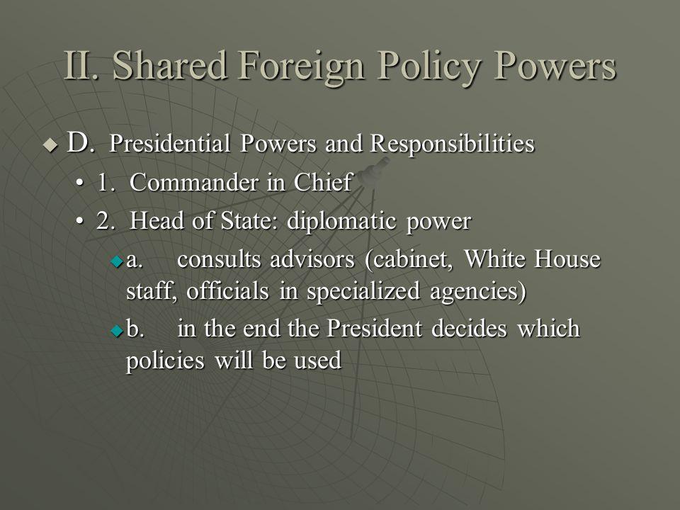 E.Congressional Powers E.Congressional Powers 1.Power to declare war1.