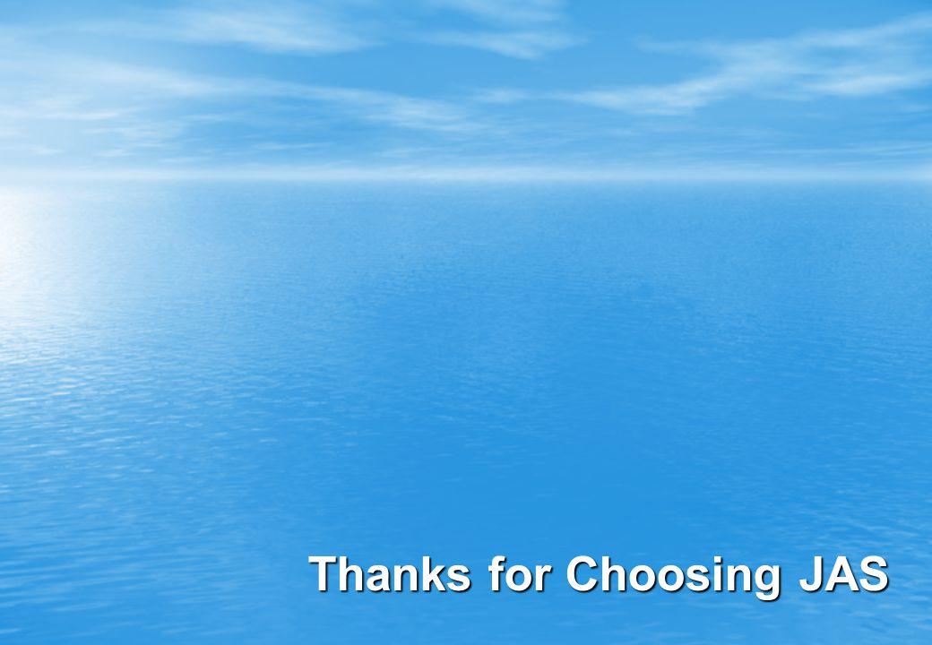 Thanks for Choosing JAS