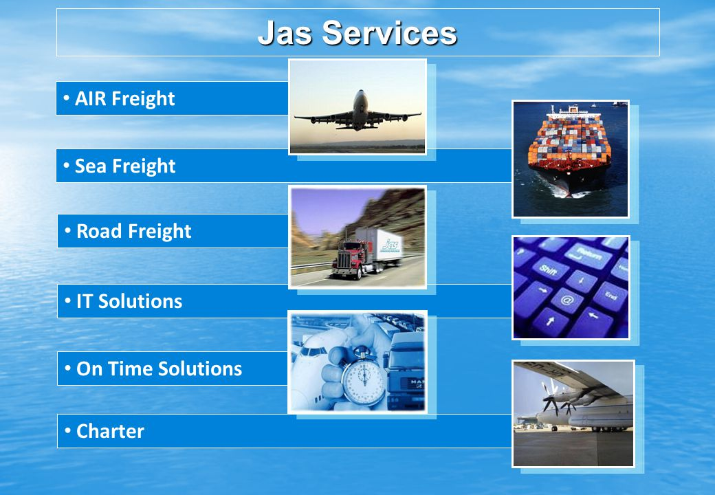 Charter Road Freight AIR Freight Sea Freight Jas Services IT Solutions On Time Solutions