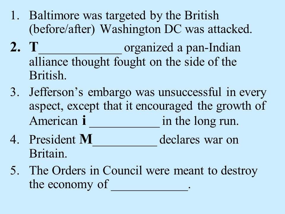 Ch. 6, Sect. 4 War of 1812