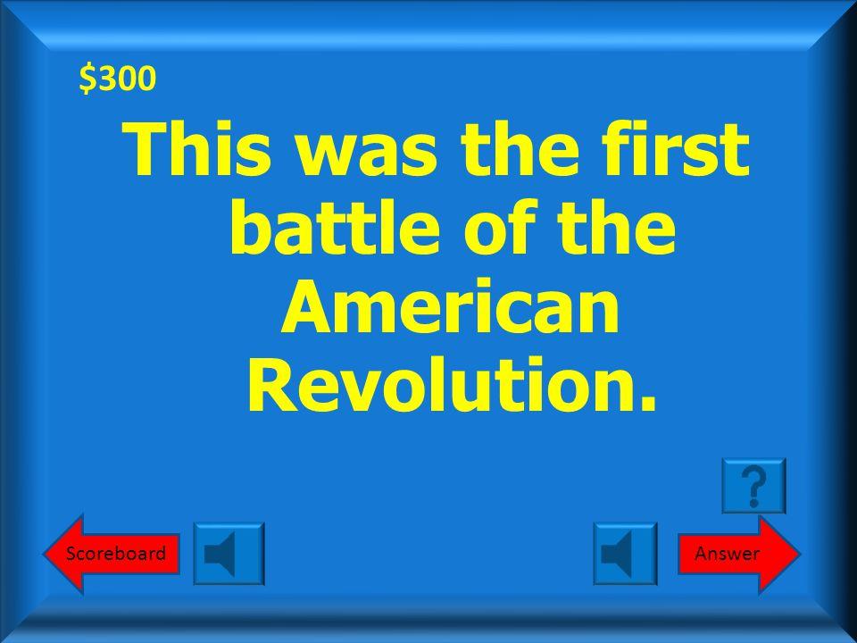 $200 Yorktown (1781) What is Yorktown (1781) Round 1