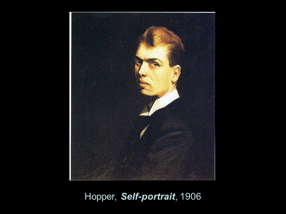 Hopper, Self-portrait, 1906