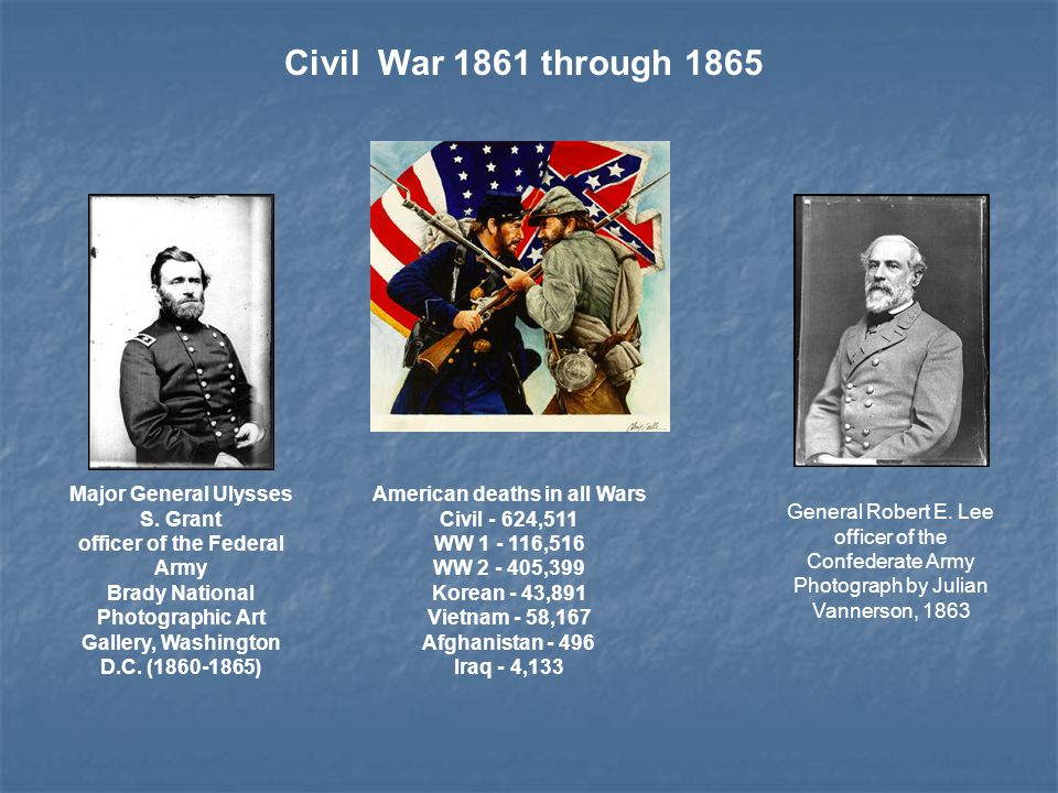 EFFECTS OF CIVIL WAR EFFECTS OF CIVIL WAR creation of a single unified country creation of a single unified country abolition of slavery abolition of slavery increased power to fed.