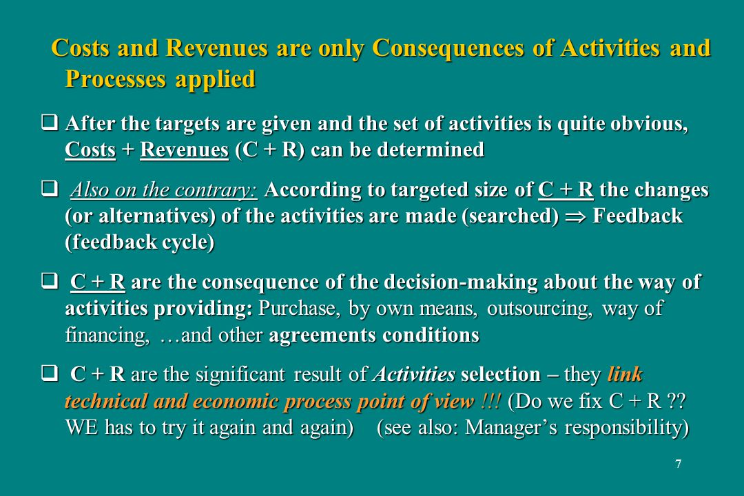 18 Costing 2/10 Costing - what are key factors.Costing - what are key factors.