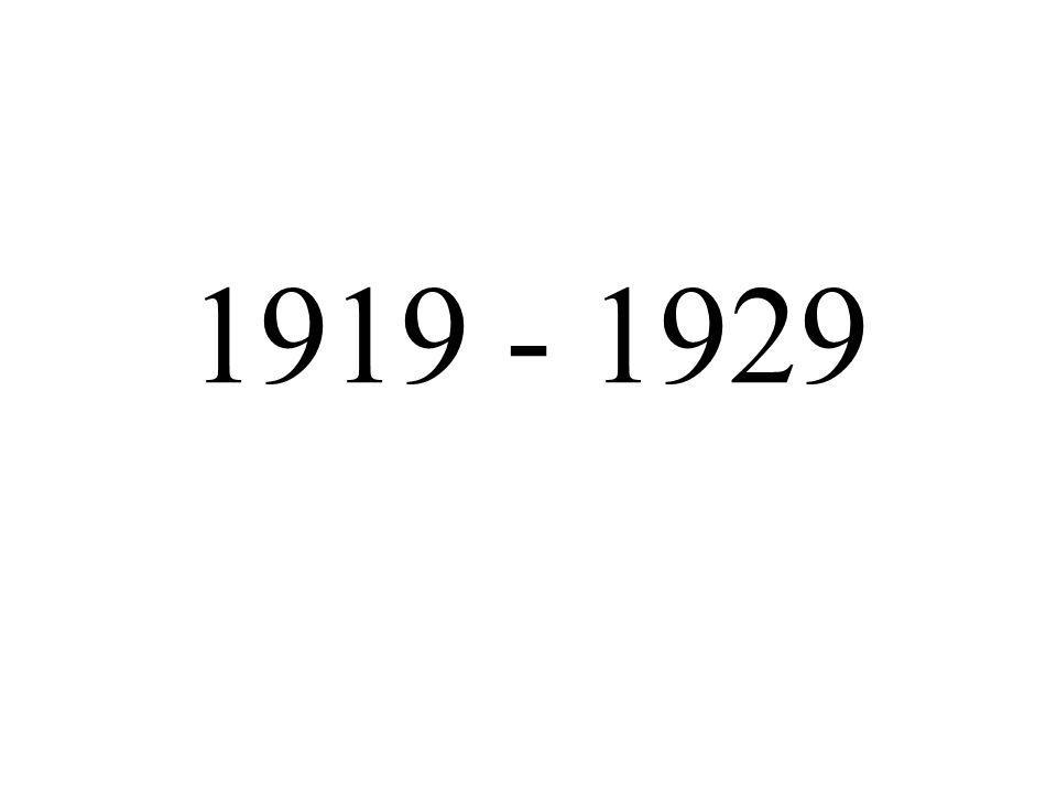 1919 - 1929