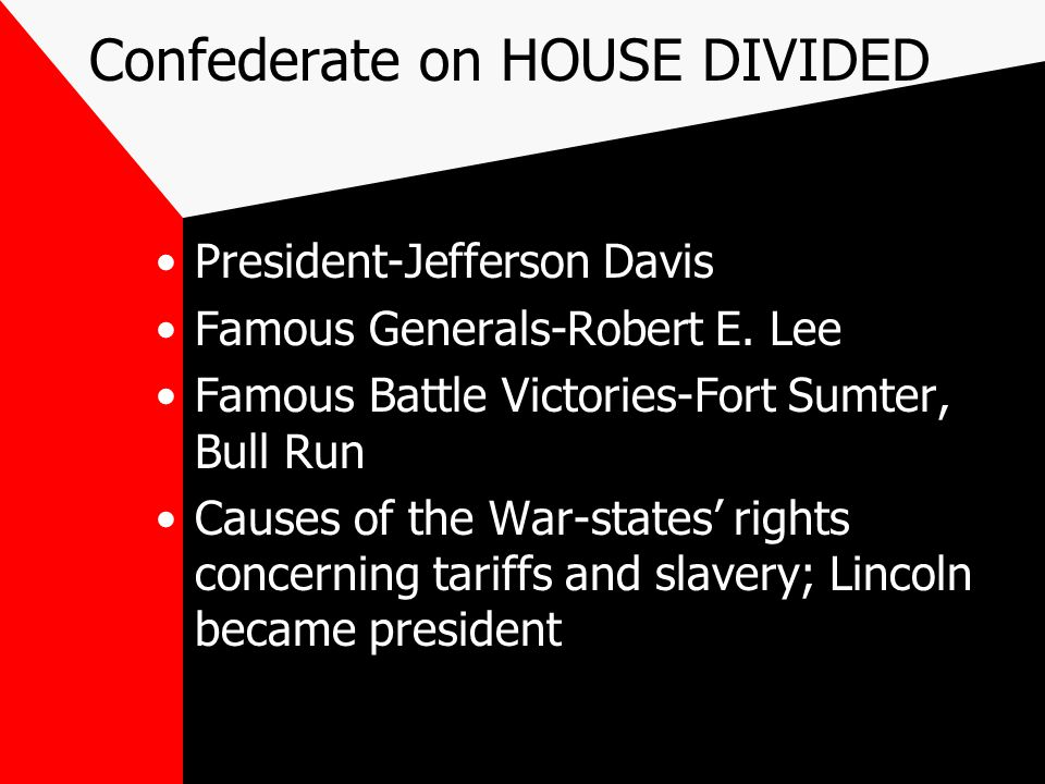 Union-HOUSE DIVIDED WS President-Abraham Lincoln Famous Generals-Ulysses S.