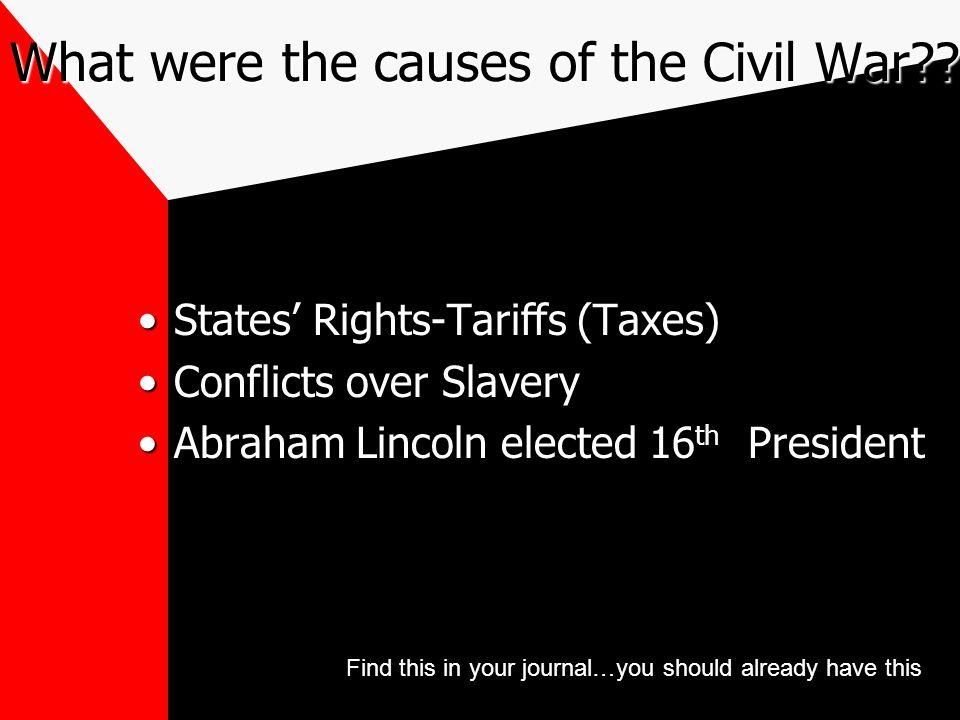 Add academic Vocab Civil War- U.S.