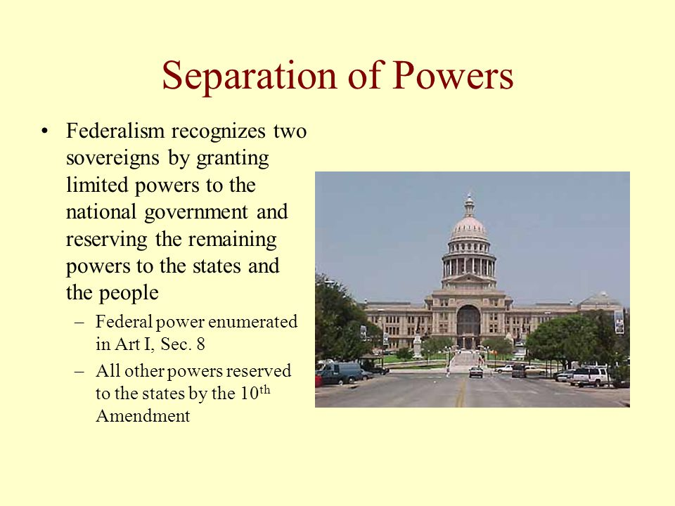 Why the Debate Over Governmental Power.