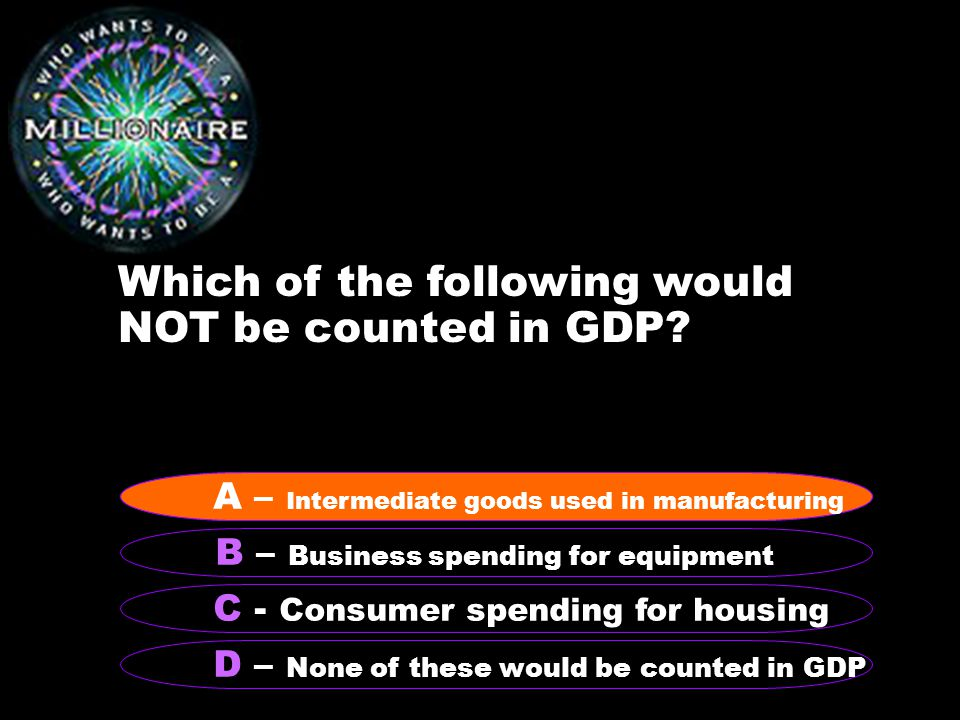 Which of the following would NOT be counted in GDP.
