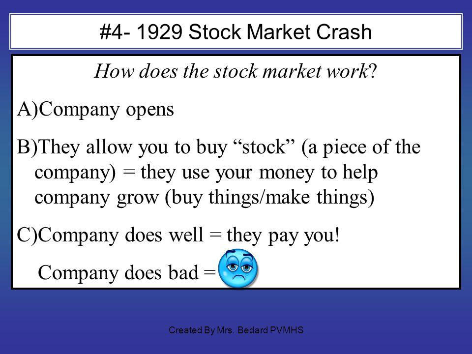 #4- 1929 Stock Market Crash How does the stock market work.