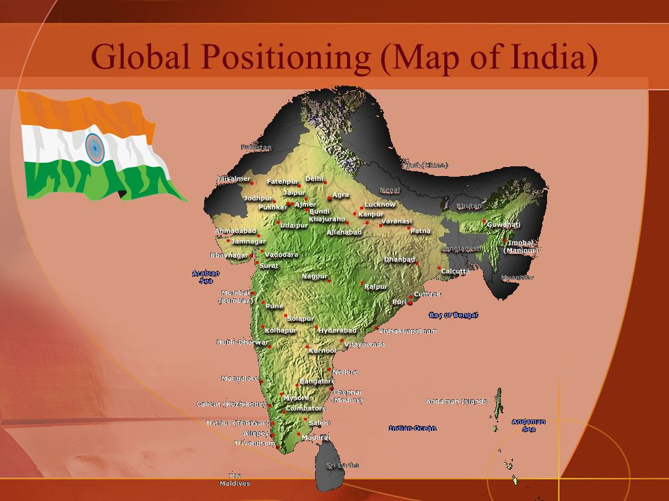 Global Positioning (Map of India)