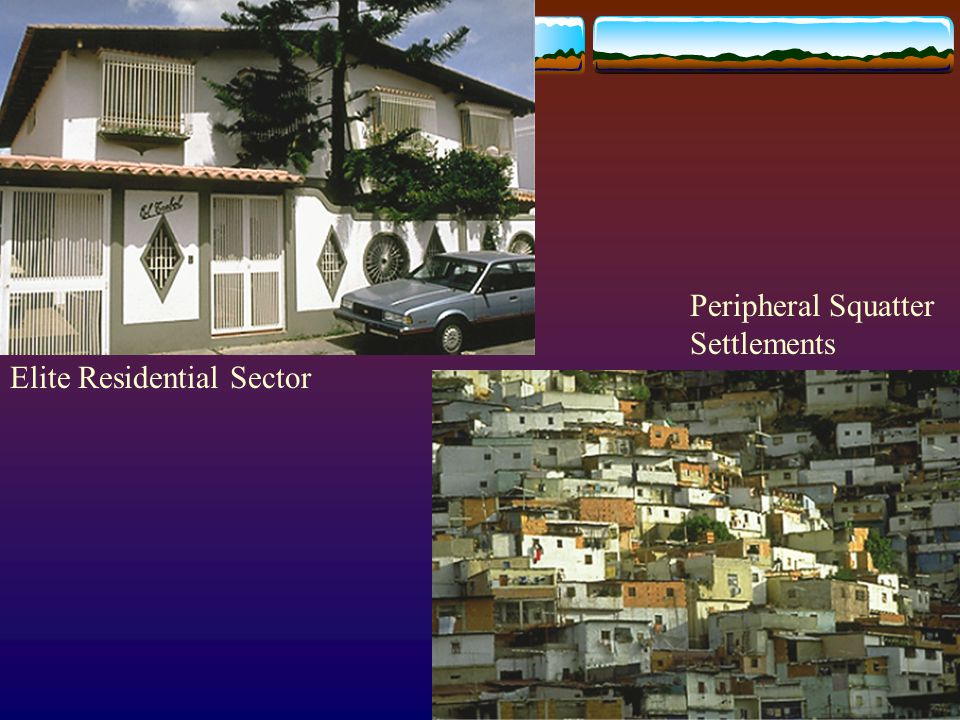 Elite Residential Sector Peripheral Squatter Settlements