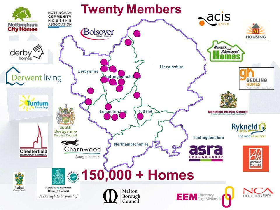 Twenty Members 150,000 + Homes