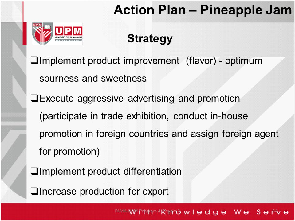 Strategy Implement product improvement (flavor) - optimum sourness and sweetness Execute aggressive advertising and promotion (participate in trade ex