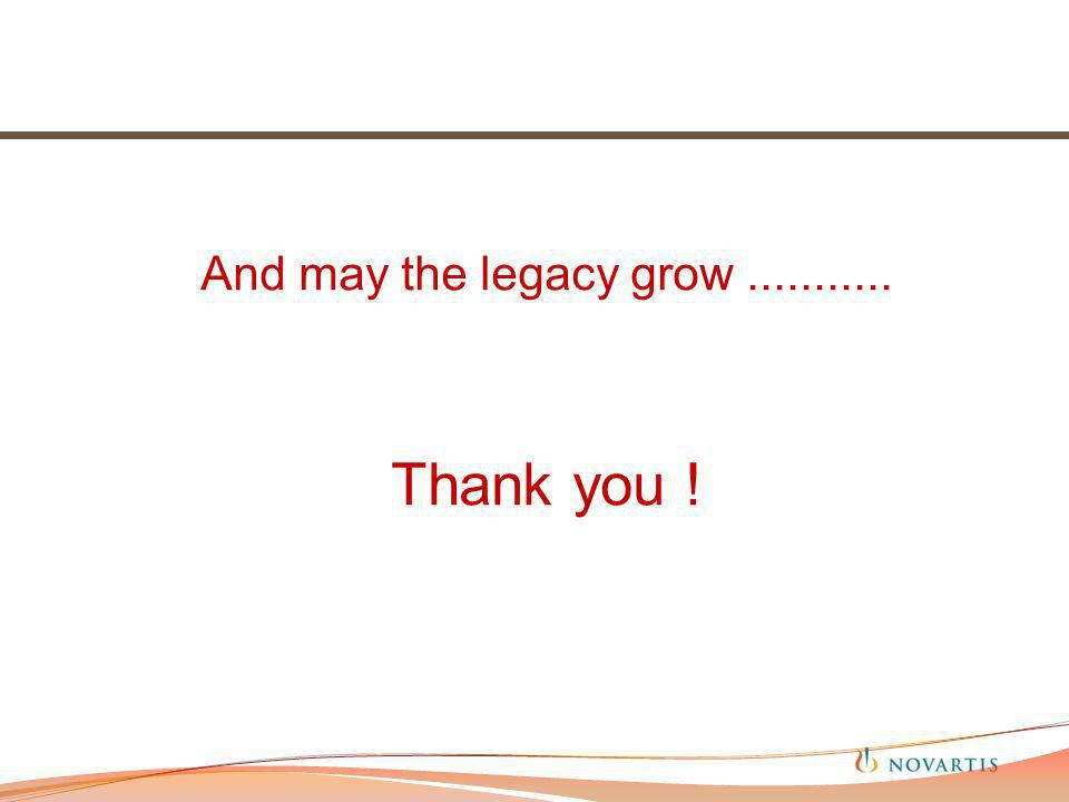 And may the legacy grow........... Thank you !