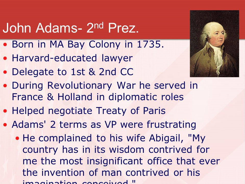 Election of 1796 To prepare for election, Federalists & Republicans held caucuses (meetings). John Adams represented Federalists in election Thomas Je