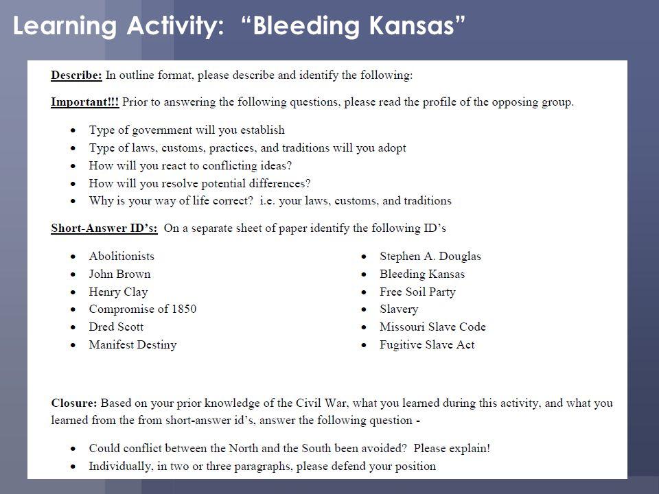Learning Activity: Bleeding Kansas