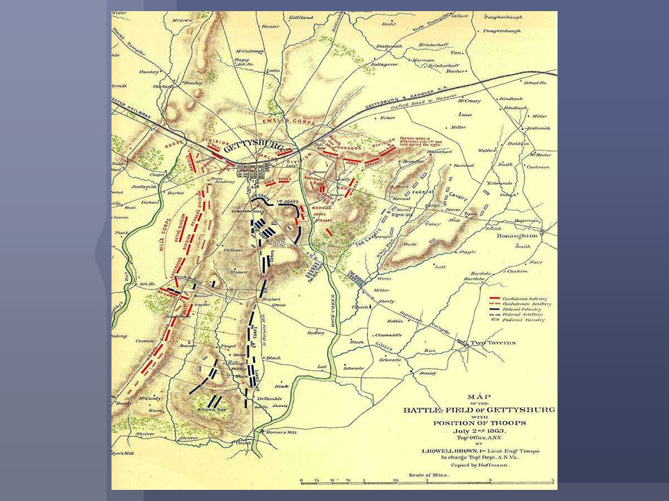 For three grueling days, Union Soldiers and Confederate Soldiers staged one of the bloodiest battles of the war. The South, led by General Robert E. L