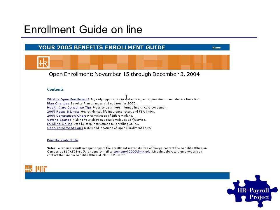 Enrollment Guide on line