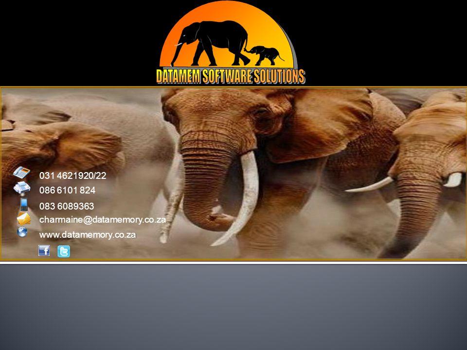 031 4621920/22 086 6101 824 083 6089363 charmaine@datamemory.co.za a www.datamemory.co.za