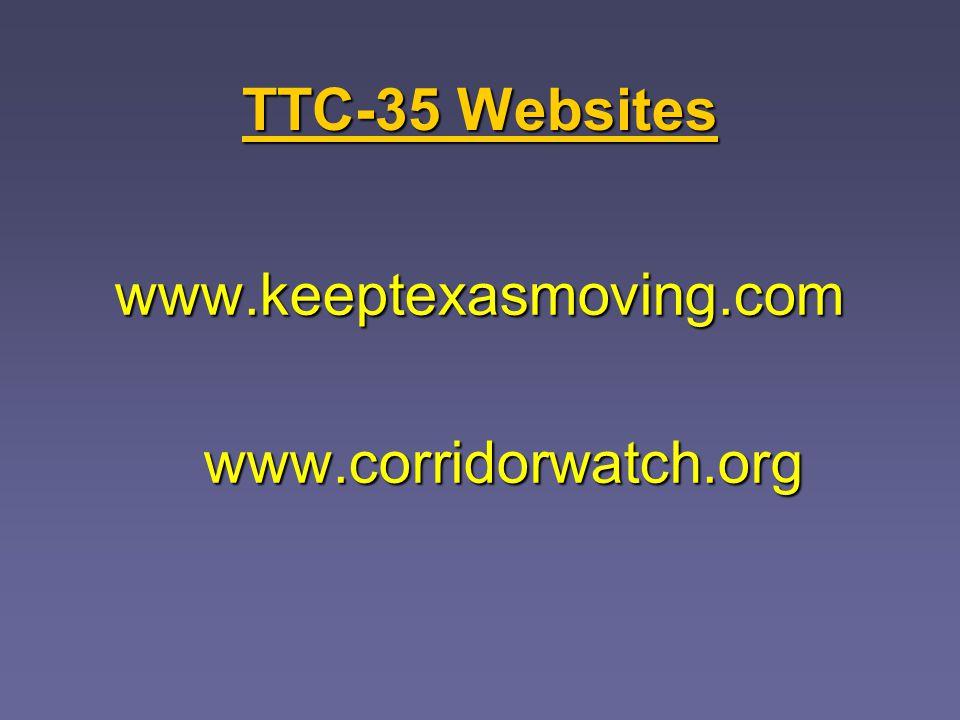 TTC-35 Websites www.keeptexasmoving.comwww.corridorwatch.org