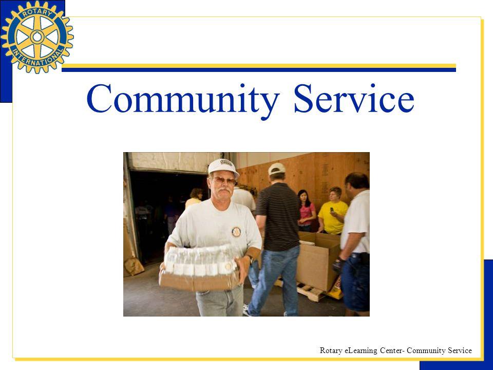 Rotary eLearning Center- Community Service Community Service