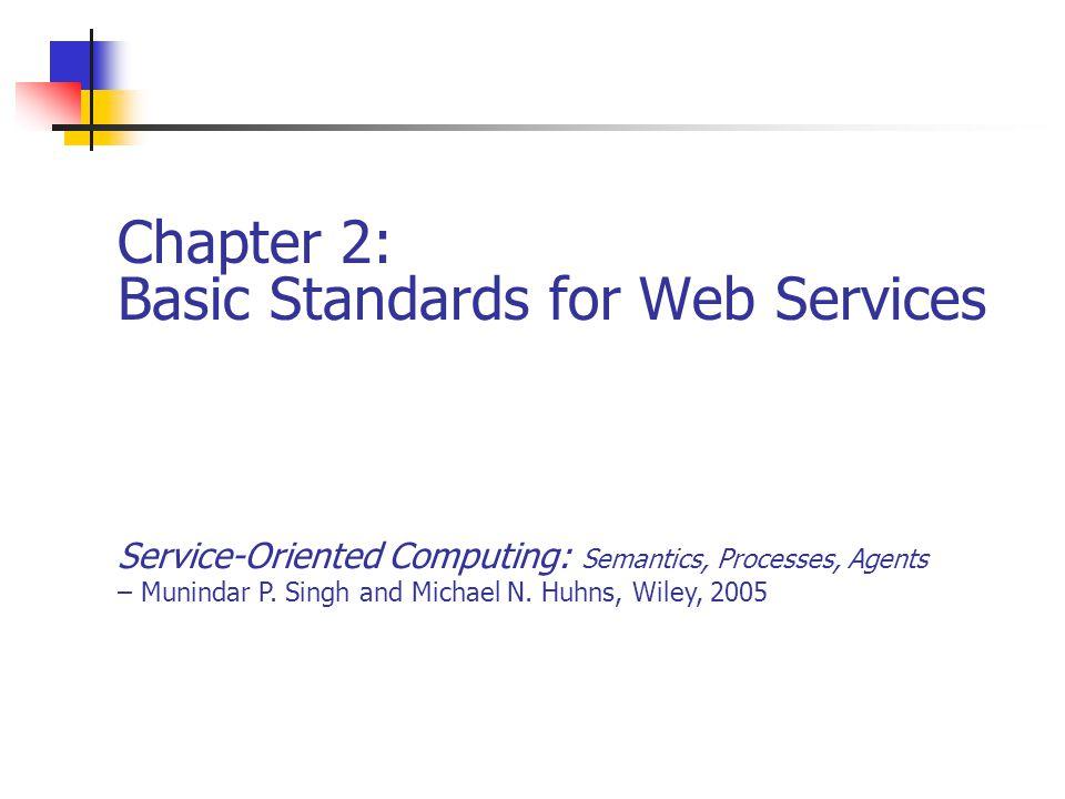 Chapter 212Service-Oriented Computing: Semantics, Processes, Agents - Munindar Singh and Michael Huhns Ex.
