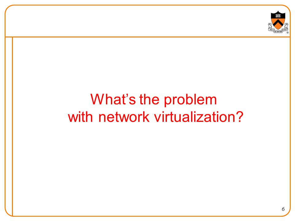 Whats the problem with network virtualization 6