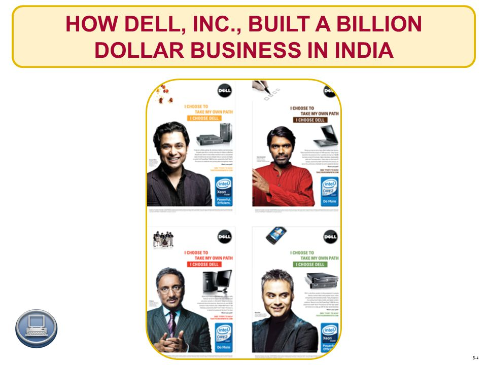 HOW DELL, INC., BUILT A BILLION DOLLAR BUSINESS IN INDIA 6-4