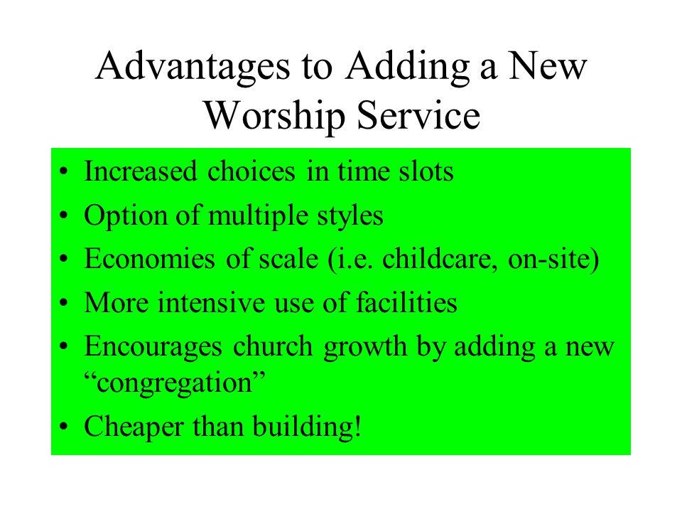 Adding a New Worship Service