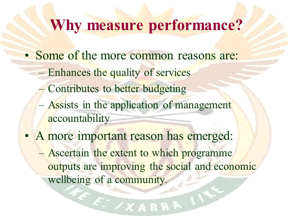 Why measure performance.