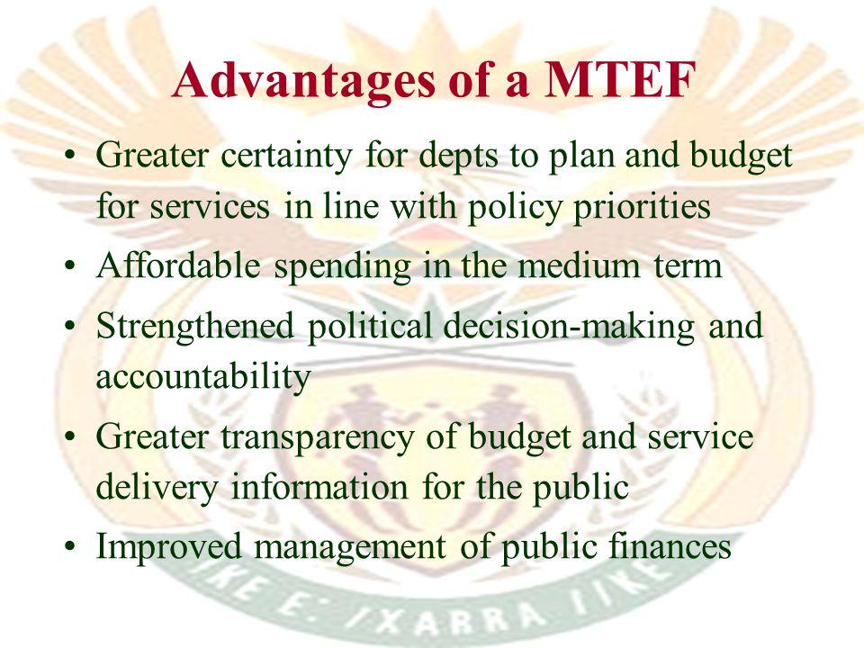 Key budget format reforms...
